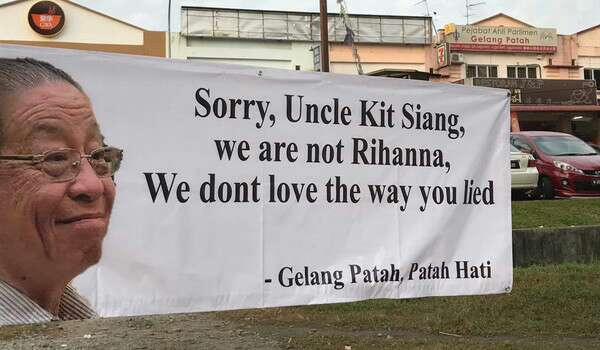 Pengundi Gelang Patah Kecam Lim Kit Siang