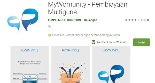 mywomunity aplikasi wom finance untuk cek sisa angsuran dan nomor kontrak wom finance