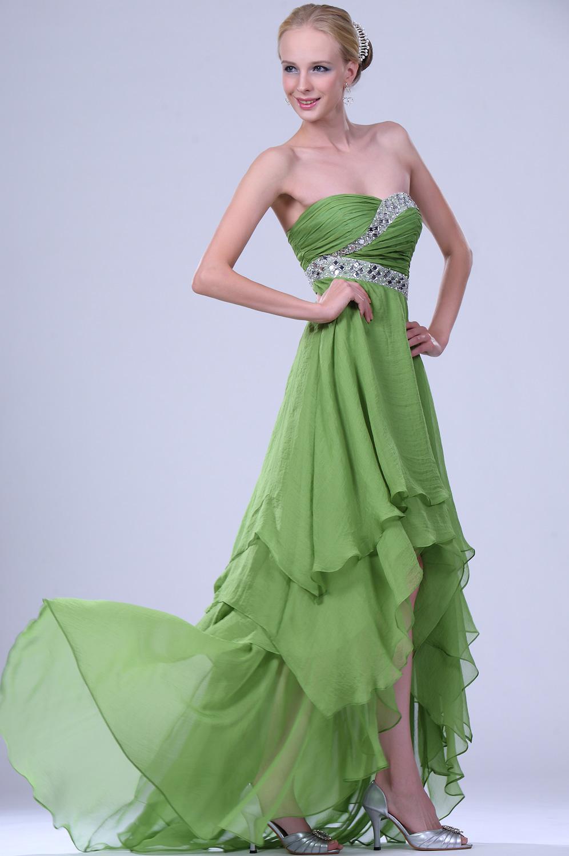 Robe de soiree vert pour mariage