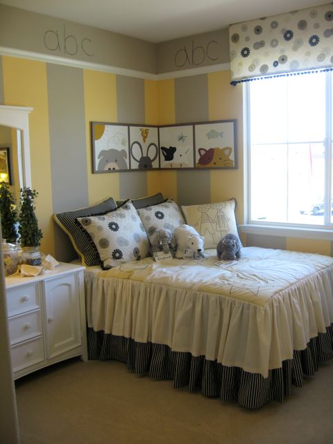 Colour For Study Room: ABC Yellow And Gray Room
