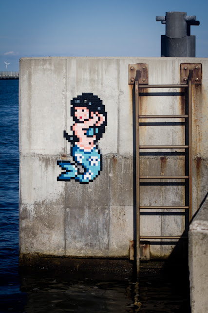 Invader is back on the streets of Ravenna in Italy where he just finished working on a second wave of invasions.