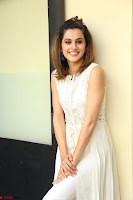 Taapsee Pannu in cream Sleeveless Kurti and Leggings at interview about Anando hma ~  Exclusive Celebrities Galleries 043.JPG