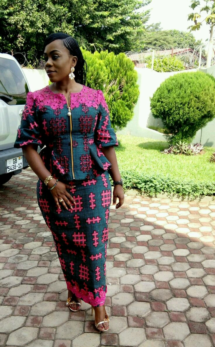 Beautiful And Creative Ankara Styles Skirt And Blouse