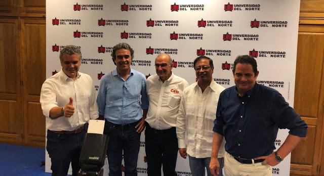 Iván Duque, Sergio Fajardo, Humberto de la Calle, Gustavo Petro, Germán Vargas Lleras, Todas las Sombras