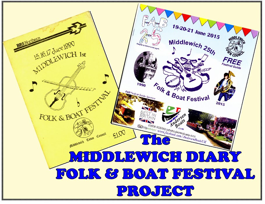 THE MIDDLEWICH DIARY FOLK & BOAT FESTIVAL PROJECT
