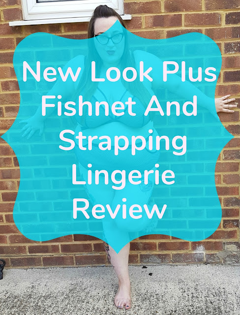 New Look Curves Plus size underwear review - fishnet and strapping set