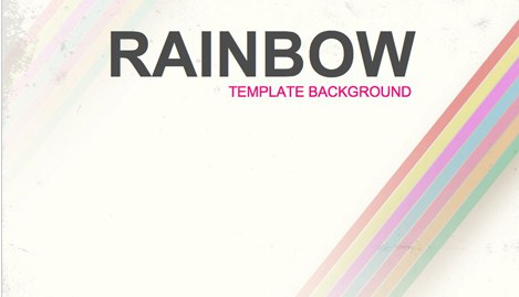 Free Rainbow Background Design Template