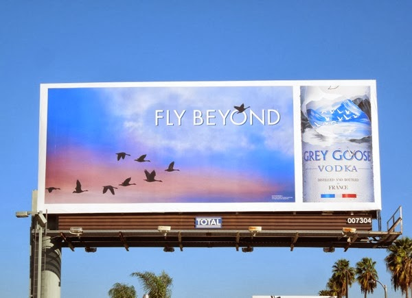 Fly Beyond Grey Goose Vodka billboard