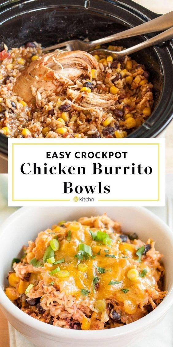 Slow-Cooker Chicken Burrito Bowls