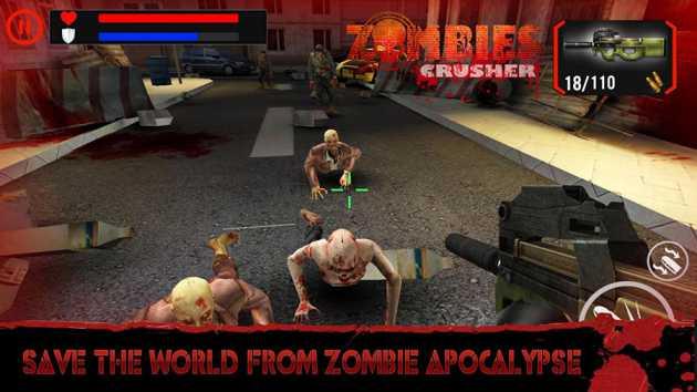Game Fps Offline Ukuran Kecil Zombie Crushers Mod Apk