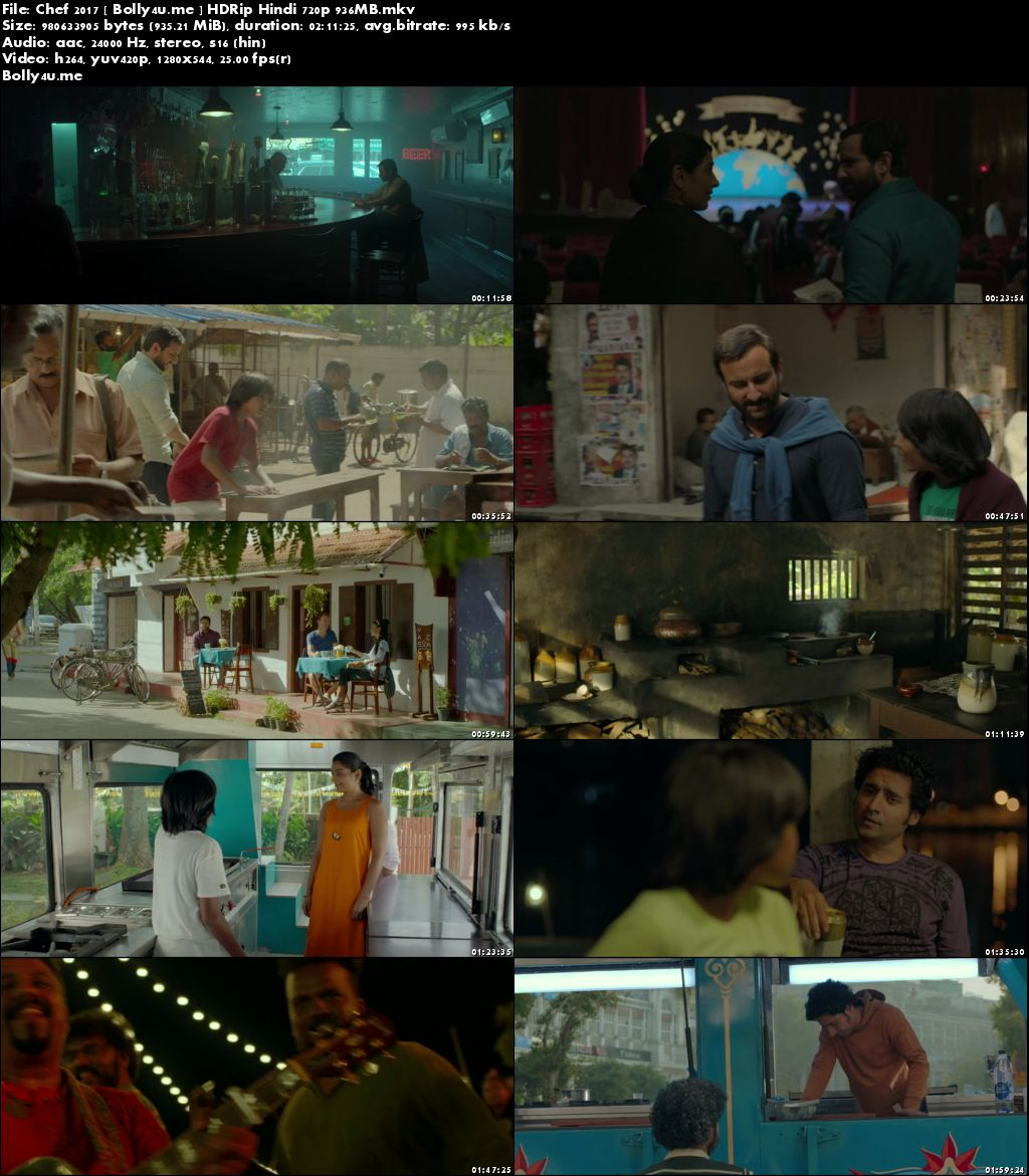Chef 2017 HDRip 350MB Full Hindi Movie Download 480p