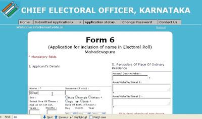 Online voter Registration Process