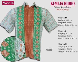 Grosir kemeja batik pria murah dan berkualitas (batik pekalongan)- ridho motif 13