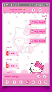 Download BBM Mod Hello Kitty v3.3.1.24 Apk Terbaru