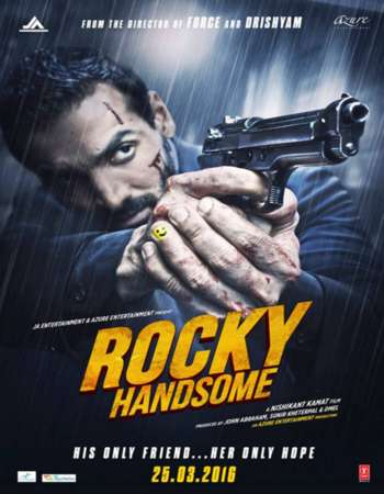 Poster Of Rocky Handsome 2016 Hindi 350MB DVDScr 480p Free Download Watch Online