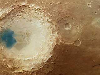 blue patces on mars