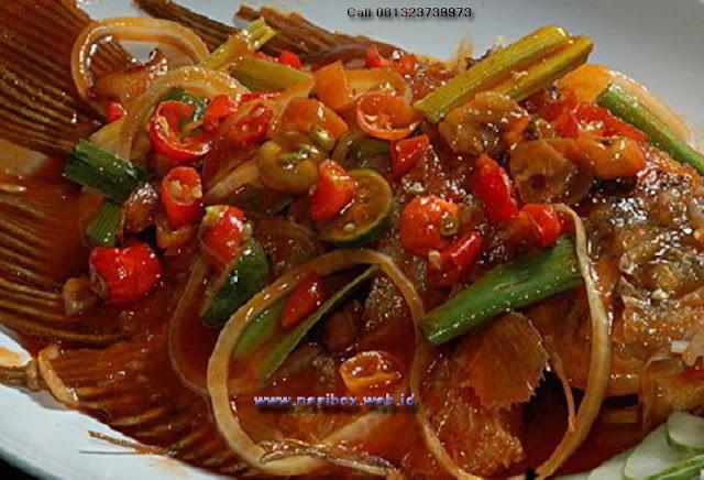 Resep ikan kakap siram saus asam manis nasi box walini ciwidey