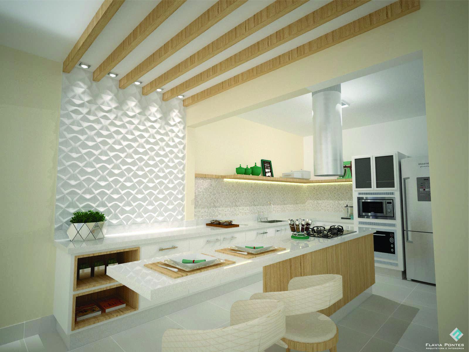 Projetos De Cozinhas Com Ilha Central With Ilha Cozinha Em Um