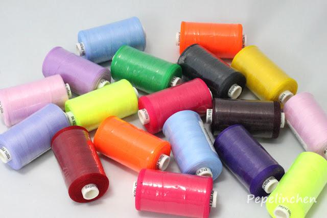 Bauschgarn in vielen Farben