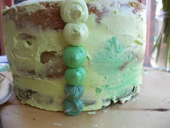 hoe maak je een ombre petal cake