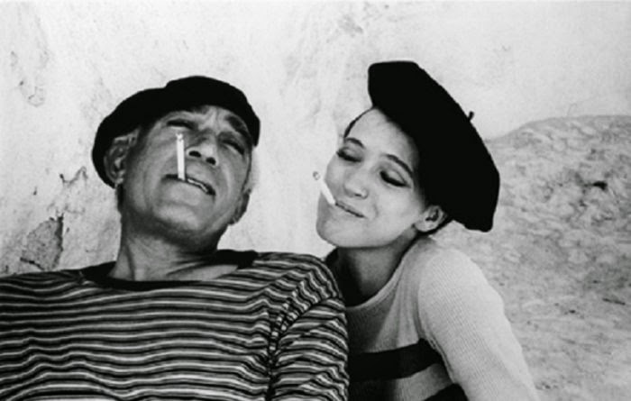 Before there were hippies there were beatniks vintage for French striped shirt and beret