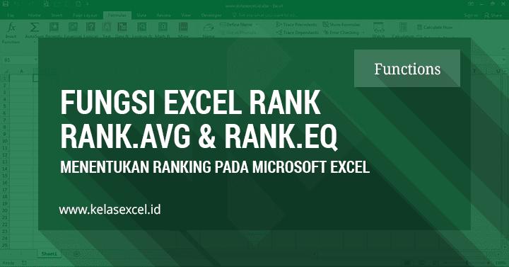 Rumus Excel RANK, Mencari & Menentukan Ranking Peringkat Nilai di Excel