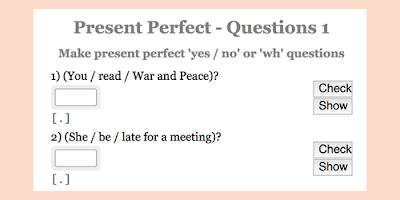 Present Perfect practice: Interrogative sentences