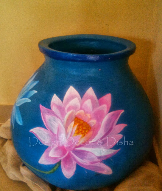Pink Lotus On A Pot