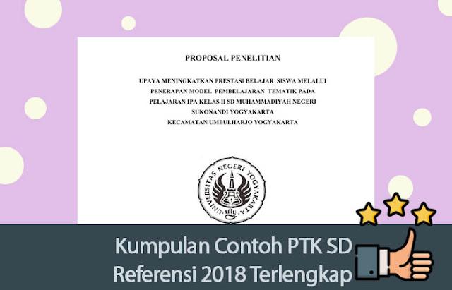 Kumpulan Contoh PTK SD Referensi 2018