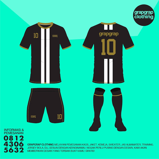 Beking Baju / Kaos Team / Jersey Bola Murah Manado - Style Juventus