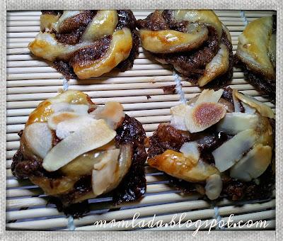 Espirales de hojaldre y nutella