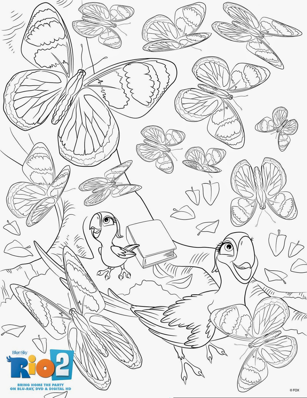 Heck Of A Bunch Rio 2 Activity And Coloring Sheets