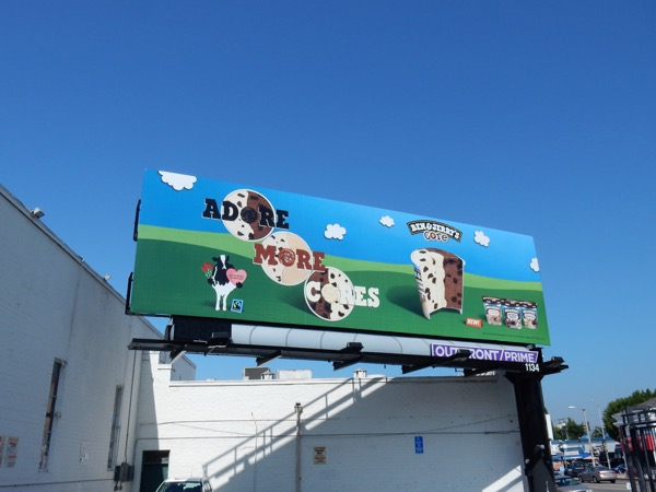 Ben Jerrys icecream Adore more cores billboard