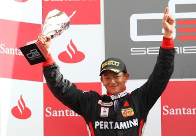 Rio Haryanto in Podium GP3