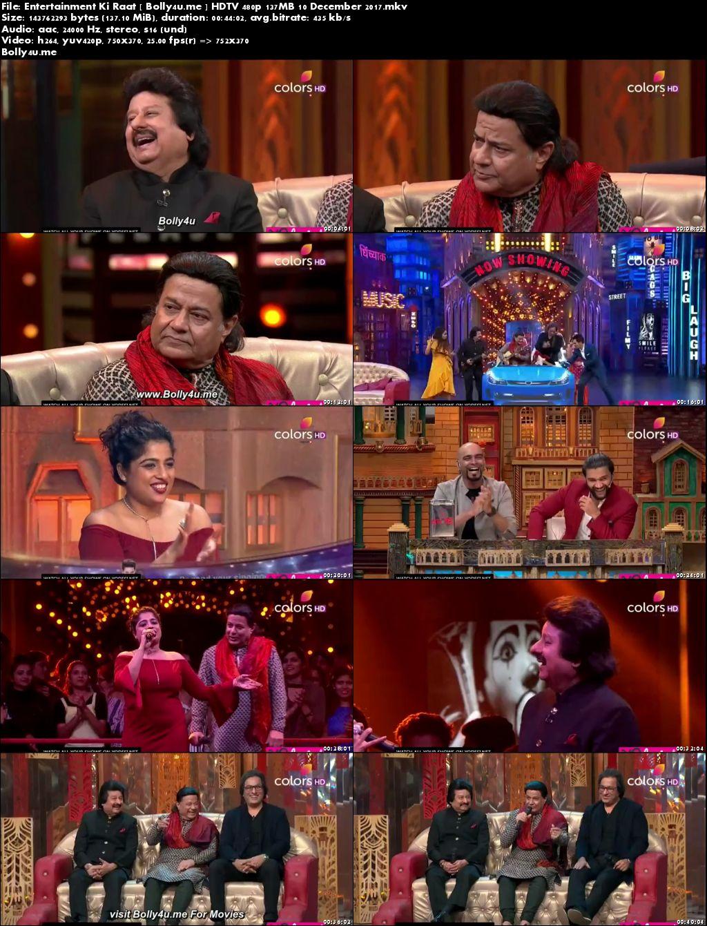 Entertainment Ki Raat HDTV 480p 130MB 10 Dec 2017 Download