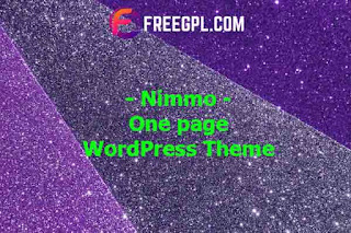 Nimmo - One page WordPress Theme Nulled Download Free