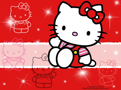 Gambar Hello Kitty Lucu Merah Cerah