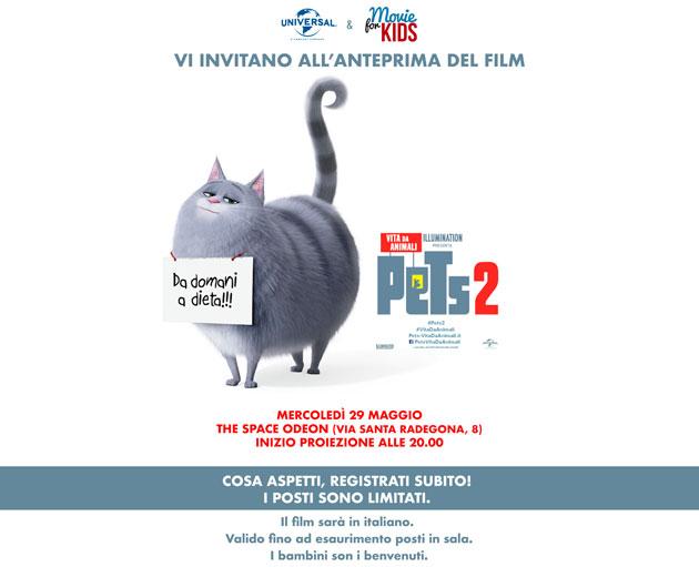 ottieni 2 biglietti per l'anteprima del film Psts 2 Vita da animali