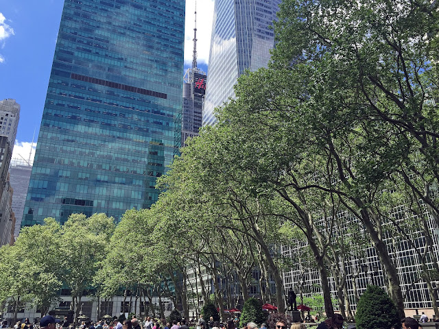 NYC travel guide summer bryant park view location