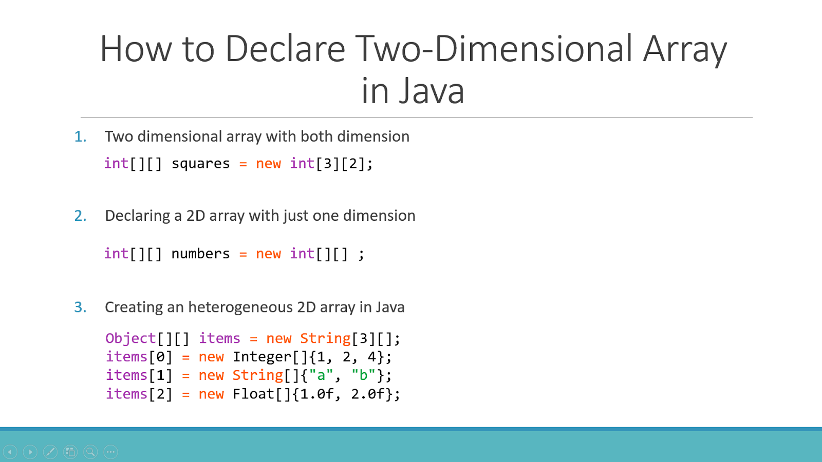 6 Example To Declare Two Dimensional Array In Java