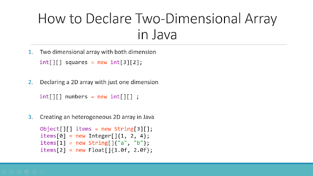 6 ways to declare a two dimensional array in Java