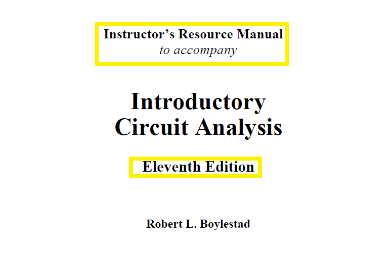 Introductory,Circuit,Analysis,11th Edition,by,Robert L.,Boylestad