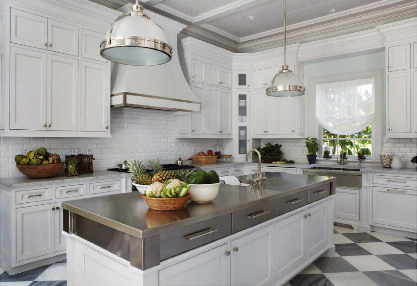 white kitchen cabinets stainless steel countertops the glam pad a blue and white regency bermuda in palm 28932