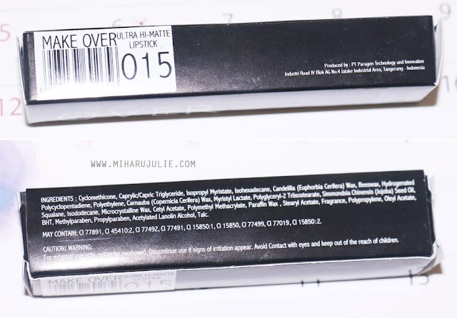 Make Over Ultra Hi-Matte Lipstick Review