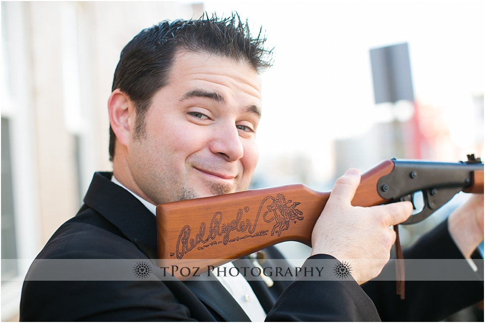 Red Ryder Christmas Story Wedding Groom