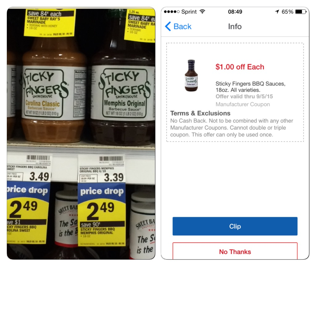 Meijer: Sticky Fingers BBQ Sauce For $1.49!