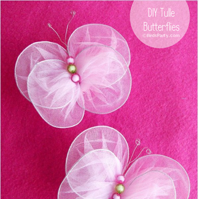DIY New-Sew Tulle Butterflies Tutorial
