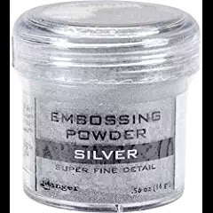 Ranger Embossing Powder, Super Fine Silver