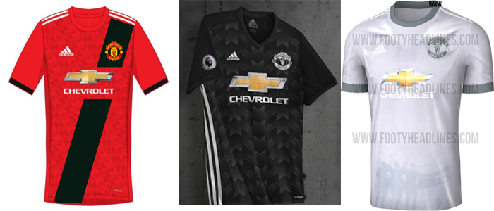 new arrival 9c18c 784eb FTH: Manchester United 2017-18 Home, Away and Third Kit Leaked
