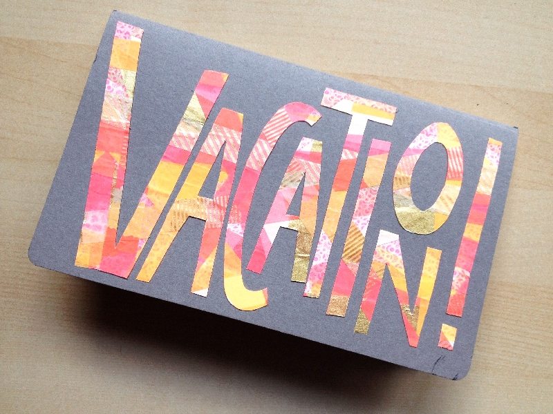 DIY Vacation Word Travel Journal | Washi Tape Ideas | Creative Ways To Use Washi Tape
